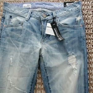 New Gap distressed straight fit jeans
